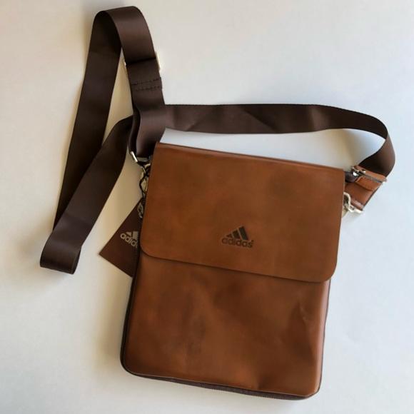 f940fc933ec adidas Bags   Leather Crossbody Bag   Poshmark
